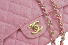 Chanel Pink Caviar Medium Classic 2.55 Double Flap Bag - Boutique Patina  - 8