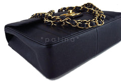 Chanel Black Vintage Caviar Mademoiselle Classic Jumbo Flap Bag - Boutique Patina  - 7