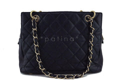 Chanel Black Caviar Quilted Timeless Shopper Tote Bag