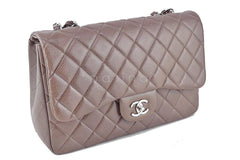 Chanel Taupe Beige Caviar Jumbo 2.55 Classic Flap Bag - Boutique Patina  - 3