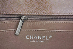 Chanel Taupe Beige Caviar Jumbo 2.55 Classic Flap Bag - Boutique Patina  - 11