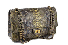 Chanel Limited Gold Python 226 Classic Reissue 2.55 Flap Bag - Boutique Patina  - 2