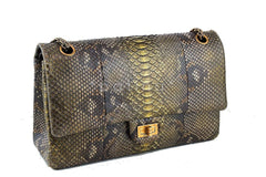 Chanel Limited Gold Python 226 Classic Reissue 2.55 Flap Bag - Boutique Patina  - 3