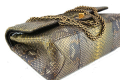 Chanel Limited Gold Python 226 Classic Reissue 2.55 Flap Bag - Boutique Patina  - 7