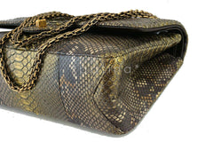 Chanel Limited Gold Python 226 Classic Reissue 2.55 Flap Bag - Boutique Patina  - 8