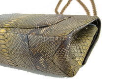 Chanel Limited Gold Python 226 Classic Reissue 2.55 Flap Bag - Boutique Patina  - 10