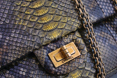 Chanel Limited Gold Python 226 Classic Reissue 2.55 Flap Bag - Boutique Patina  - 11
