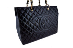 Chanel Black Patent Vintage Grand Shopper Tote GST Chunky Chain Bag - Boutique Patina  - 3