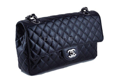 Chanel Black Glossy Patent Quilted Classic Label Flap Bag - Boutique Patina  - 3