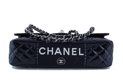 Chanel Black Glossy Patent Quilted Classic Label Flap Bag - Boutique Patina  - 6