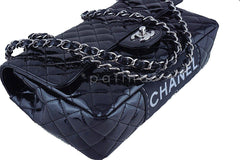 Chanel Black Glossy Patent Quilted Classic Label Flap Bag - Boutique Patina  - 7