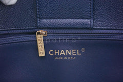 Chanel Navy Blue Caviar Classic Quilted Shopper Tote Bag - Boutique Patina  - 10