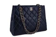 Chanel Black Classic Quilted Shopper Tote Bag - Boutique Patina  - 2