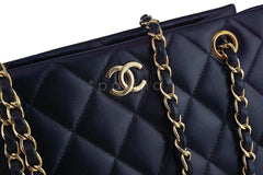 Chanel Black Classic Quilted Shopper Tote Bag - Boutique Patina  - 8