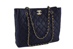 Chanel Black Caviar Classic Quilted Shopper Tote Bag - Boutique Patina  - 2