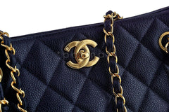 Chanel Black Caviar Classic Quilted Shopper Tote Bag - Boutique Patina  - 8