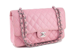 Chanel Pink Caviar Medium Classic 2.55 Double Flap Bag - Boutique Patina  - 2
