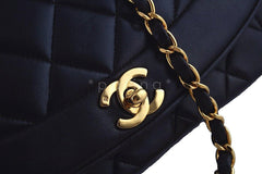 Chanel 10in Black Vintage Quilted Classic