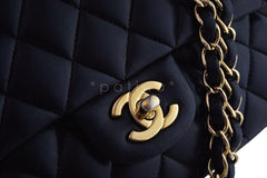 Chanel Black Lambskin Medium-Large Classic 2.55 Double Flap Bag GHW