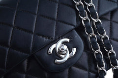 Chanel Black Lambskin Medium-Small Classic 2.55 Double Flap Bag SHW - Boutique Patina  - 8