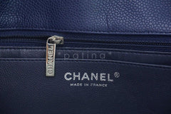 Chanel Navy Blue Caviar Jumbo 2.55 Classic Flap Bag - Boutique Patina  - 11