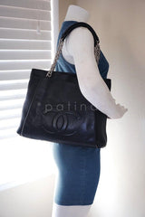 Chanel Black Caviar Timeless Large Shopper Tote Bag - Boutique Patina  - 12