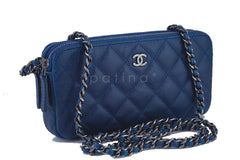 Chanel Caviar Blue Mini Camera Case Wallet on Chain WOC Bag - Boutique Patina  - 2