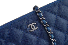 Chanel Caviar Blue Mini Camera Case Wallet on Chain WOC Bag - Boutique Patina  - 8