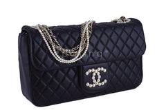 Rare Chanel Black Westminster Pearl Classic Quilted Flap Bag - Boutique Patina  - 2