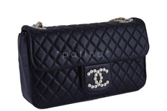 Rare Chanel Black Westminster Pearl Classic Quilted Flap Bag - Boutique Patina  - 3