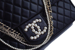 Rare Chanel Black Westminster Pearl Classic Quilted Flap Bag - Boutique Patina  - 8
