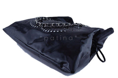 Chanel Black Patent Lambskin Strass Crystals Bon Bons Tote Bag