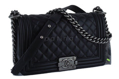 NWT Chanel Black Le Boy Classic Flap, Medium Lambskin Bag