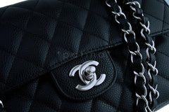 Chanel Black Caviar Medium-Small Classic 2.55 Double Flap Bag SHW