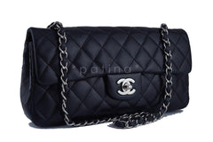 Chanel Black Lambskin East West Classic 2.55 Shoulder Flap Bag