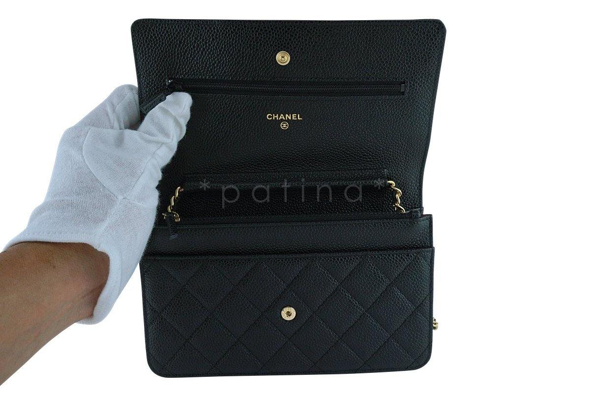 Black Classic Quilted WOC Wallet on Chain Flap Bag GHW : chanel quilted woc - Adamdwight.com