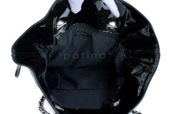 Chanel Black Patent Strass Crystals Bon Bons Tote Bag