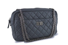 Chanel Gray Classic 2.55 Reissue Camera Case Bag