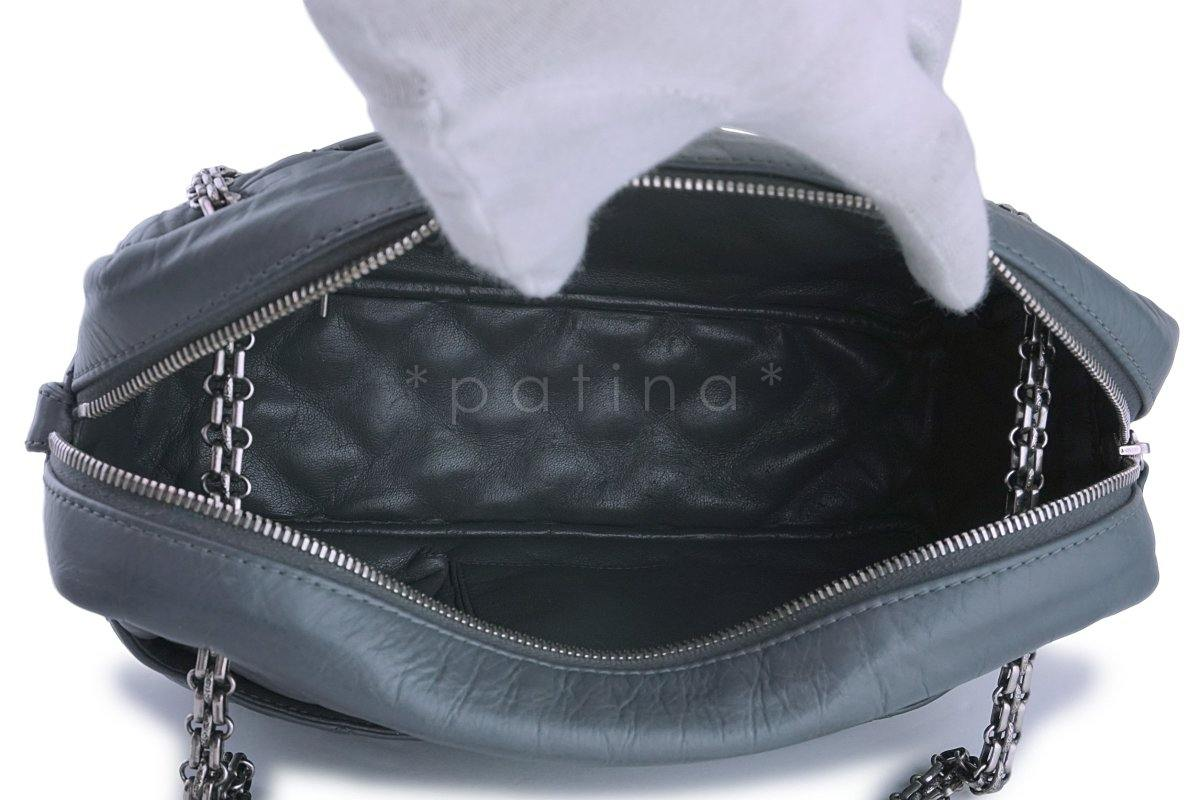 af877fda8af9 Chanel Gray Classic 2.55 Reissue Camera Case Bag