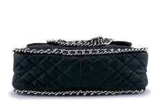Chanel Black Chain Around Maxi Luxe Flap Bag