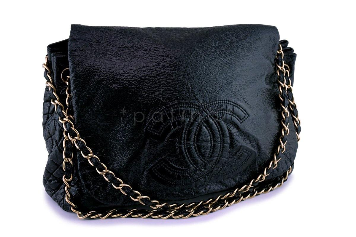 033a2355499c Chanel Patent Large Rock and Chain Flap Bag