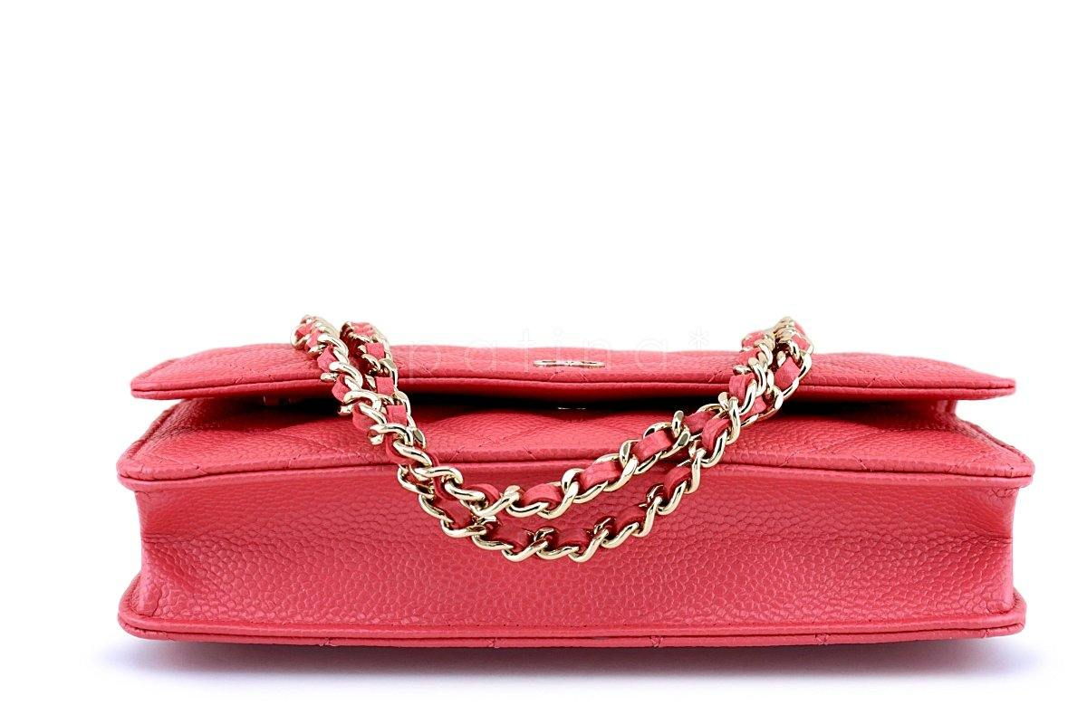 7939c9b2ccda ... New 18S Chanel Pink Caviar Classic Quilted WOC Wallet on Chain Flap Bag  GHW ...