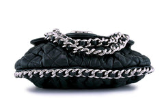 Chanel Black Mini/Small Chain Around Rounded Classic Cross Body Flap Bag SHW