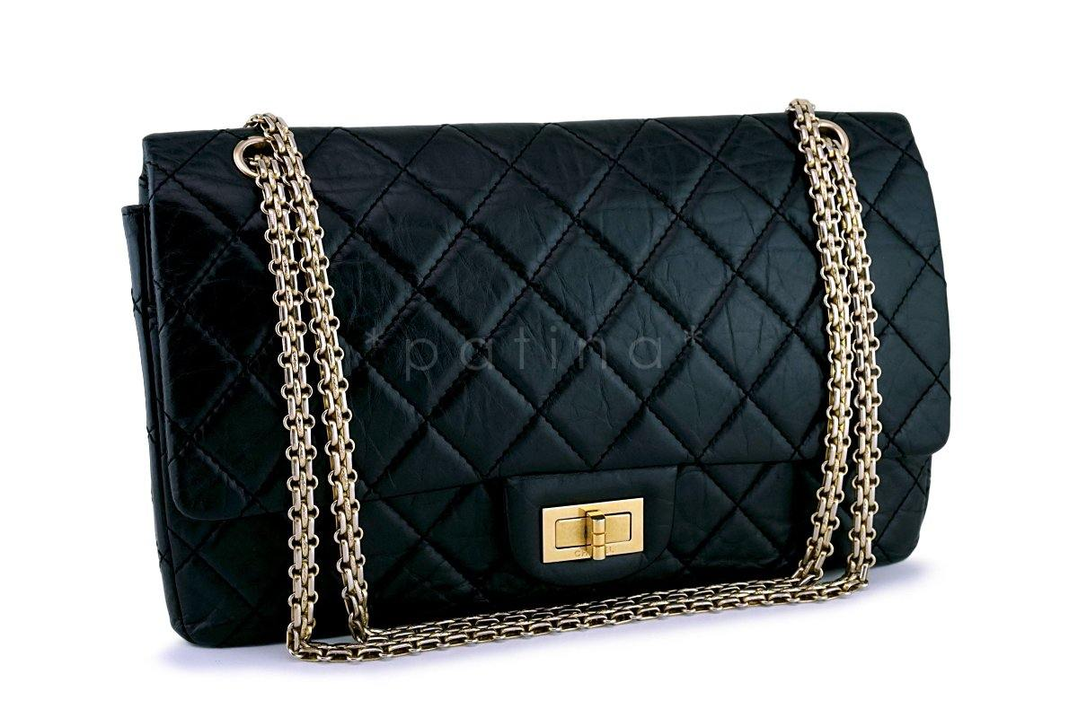 b0063c8e88c3 Chanel Black Reissue Large 227 2.55 Classic Flap Bag