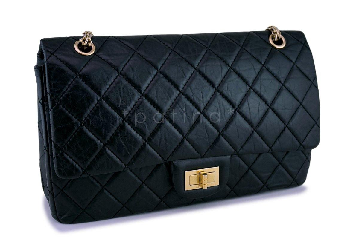 0758890a9b1a98 Chanel Black Reissue Large 227 2.55 Classic Flap Bag