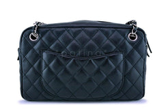 Chanel Black Caviar Large Classic Camera Case Bag SHW