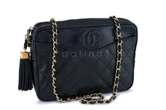 Chanel Vintage Lizard Classic Camera Case Bag GHW