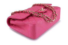 NIB 19C Chanel Pink Caviar Medium Classic Double Flap Bag GHW