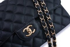Chanel Black Caviar Jumbo Classic Double Flap Bag GHW