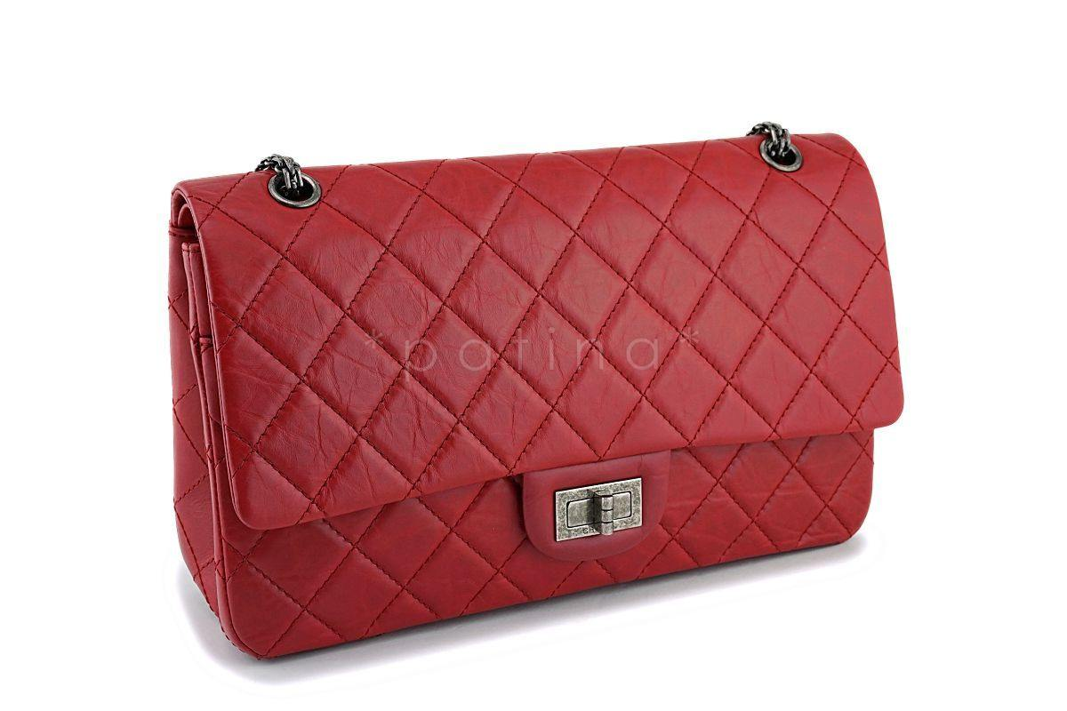 6dcf793fb5c62f Chanel Red 227 Large 2.55 Reissue Double Flap Bag RHW